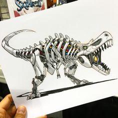 Mecha Rex by Jake Parker - http://mrjakeparker.tumblr.com/