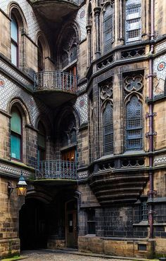 Gothic exterior of the Manchester City Hall, Manchester, England, United Kingdom, photograph by Jon Reid. Manchester City Hall, Manchester England, Oxford England, Beautiful Buildings, Beautiful Places, Beautiful Pictures, Architecture Cool, Architecture Portfolio, London Architecture