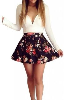 """Casual Flirt"" Flower Bustier Dress (2 colors available)"