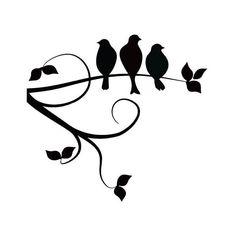 15 best Art - Bird - Silhouette ClipArt images on Pinterest | Bird ...