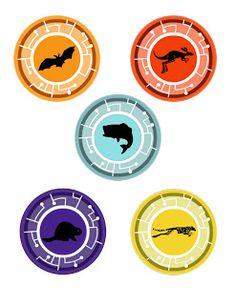 Downloadable .jpg of wild kratts creature power discs