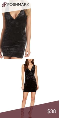 6bb0cf60 NWT Free People Viper Velvet Chemise Crushed velvet shimmers on this soft  bodycon nightie trimmed with