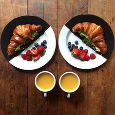 Symmetry Breakfast - On The Blog... A symmetry dream! Lovely plates from Darkroom London.