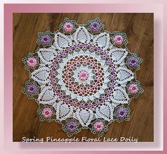 Ravelry: Spring Pineapple Floral Lace Doily pattern by Cylinda Mathews