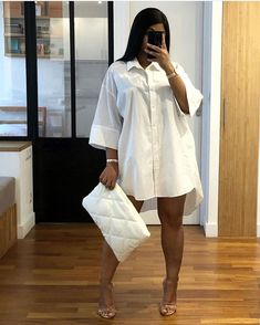 looks really beautiful and all sorts of spiffy in this dress shirt. Its such a great style out and we are lovin. Date Outfits, Classy Outfits, Stylish Outfits, Girl Outfits, Summer Outfits, Mode Chic, Mode Style, Fashion Killa, Look Fashion