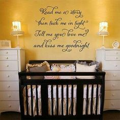 Babies room wall art message