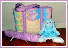 Modern Quilted Chevrons and Curves Diaper Bag PDF Pattern