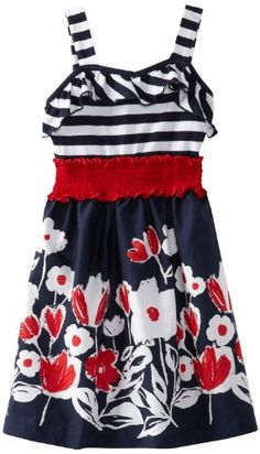 dd49cef1df Shop for Girls Stripe Border Print Dress by Rare Editions at ShopStyle.