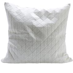 Housse de coussin Geo Origami blanche - Mikabarr