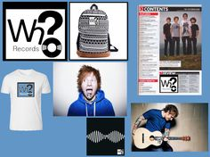Here on this image we have are first look of the record label where you can see are logo on different indie products, such as t-shirts, Guitars, Ed Sheeran (indie Artist) and an album cover of Arctic Monkeys.