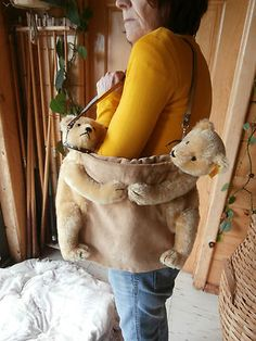 Rare Steiff two bear purse.....I really really want this purse !!