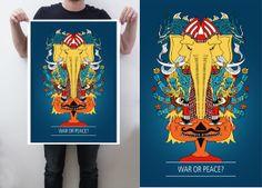 Art Posters by Aditya Chakravarty, via Behance
