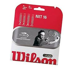 Wilson NXT 16 Tennis Racquet String (16 Gauge, 1.30mm) by Wilson. $15.55. Amazon.com                Increase your racquet's sweet spot by more than 10 percent with the Wilson NXT 16-gauge, 1.30 mm racquet string. Rated the number one synthetic gut string for playability and comfort by the Unites States Racquet Stringers Association (USRSA), the string is made using dual-wrap DuPont Xycro microfibers bonded with polyurethane coating. The string's resulting feel and durability al...