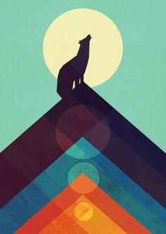 Howling Wild Wolf Art Print