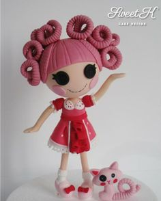 Lalaloopsy, looks like she has worm hair :)