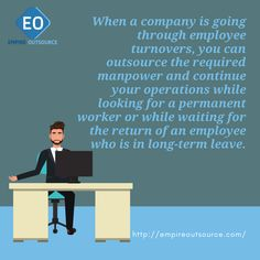 When a company is going through employee turnovers, you can outsource the required manpower and continue your operations while looking for a permanent worker or while waiting for the return of an employee who is in long-term leave. Employee Turnover, Copywriting, Attraction, Digital Marketing, Waiting, Wordpress, Positivity, Social Media, Business