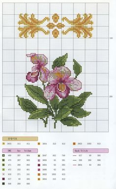 Xstitch orchid gold