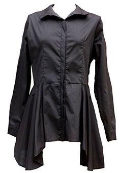 Black cotton long pleated shirt asymmetrical-14 victorian... https://www.amazon.co.uk/dp/B01FXRYEEM/ref=cm_sw_r_pi_dp_.HqGxbNCGXHER