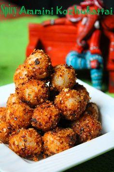 Spicy Ammini Kozhukattai Recipe / Kara Mini Kozhukattai Recipe - Ganesh Chaturthi Recipes
