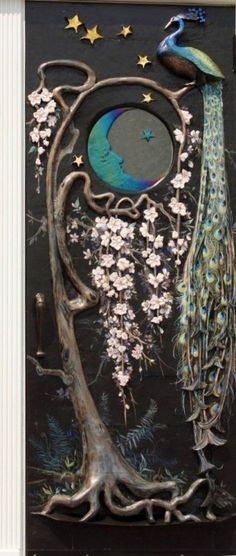 ohdarlingdankeschoen:  http://www.pinterest.com/pin/501377370988335333/ Photo Detail of Custom Made Wishmaker House Peacock Door. Ralph Mitchell's design and execution for Wishmaker House.