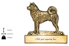 Akita Inu dog plaque can be engraved limited by ArtDogshopcenter
