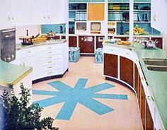 i'd be lying if i said i didn't totally love, want, and swoon for this 50s kitchen. LOOK AT THAT COUNTER SPACE!!!