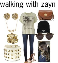 """""""walking with zayn"""" by adriana-diaz ❤ liked on Polyvore"""