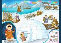 Interactieve praatplaat thema Noordpool & Zuidpool voor kleuters by juf Petra , kleuteridee. Kindergarten Crafts, Preschool Classroom, Winter Kids, Winter Sports, Polo Norte, Kids Around The World, Arctic Animals, Theme Noel, Thinking Day