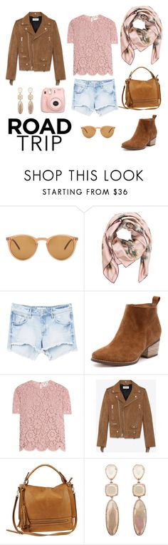 """Road trip"" by city-style-story ❤ liked on Polyvore featuring Oliver Peoples, Valentino, MANGO, Yves Saint Laurent, Urban Expressions and Fujifilm"