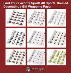 #Sports4you ~ Find Your Favorite Sport! All Sports Themed Decorating / Gift Wrapping Paper From Zazzle!