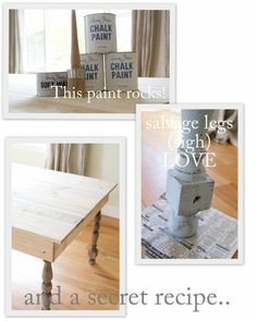 How to refurbish furniture with aged paint look