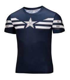 689b555f9d67 awesome Sport t-shirt Captain America Winter Soldier Marvel GYM - Captain  America T-