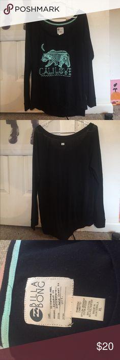 Long sleeve billabong shirt Cali love billabong pull over! Thin material awesome for layering Billabong Tops Tees - Long Sleeve