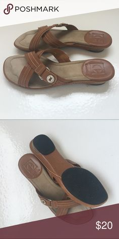 Ladies Cole Haan leather sandals sz 7.5 Beautiful ladies Cole Haan leather sandals size 7.5. These are in very good condition. No flaws.  Super comfortable! Cole Haan Shoes Sandals
