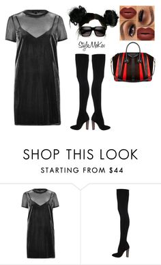 """Untitled #1112"" by bentleycartier ❤ liked on Polyvore featuring River Island, Givenchy and ZeroUV"