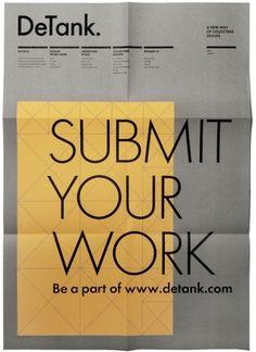 Detank Poster | Gridness.    A poster design that utilises a tight grid, incorporating columns.