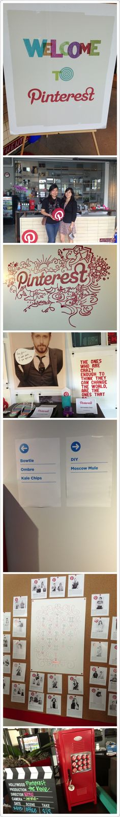 The inspiring & crafty @Pinterest office with @Katherine Chen (thanks to Kat's friend Leon)