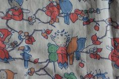 1950's Mabel Lucie Attwell fabric.  hettie brown