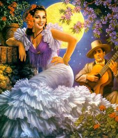 Luna Enamorada by Jesús Helguera. I would so wear a dress like this.