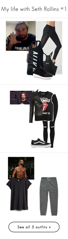 """My life with Seth Rollins #1"" by sunshineadrenaline ❤ liked on Polyvore featuring Fabletics, Under Armour, NIKE, adidas, Topshop, WWE, Vans, IRO, Cyrus and H&M"
