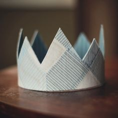 Soft, reversible fabric crown  Patchwork