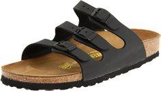 Birkenstock Women's Florida Birko Flor Sandals,Black Birko Flor,41 N EU > See this great image  : Wedge sandals