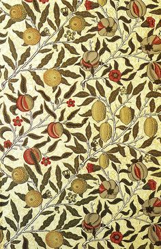William Morris. Pomegranate wallpaper design, 1866.