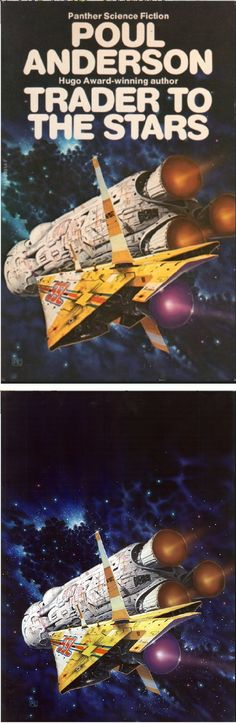 PETER ELSON - Trader to the Stars by Poul Anderson - 1980 Panther - Granada - cover by isfdb - print by peterelson.co.uk