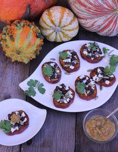 Sweet Potato Crostini | ShesCookin.com @Priscilla | She's Cookin