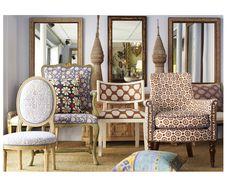 John Robshaw creates global-inspired textile design using traditional artisan printing and dyeing methods. #design #fabric #patterns