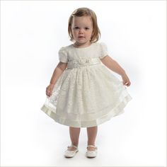 Kathyn Baby Flower Girl Dress in Ivory Lace