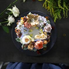 Atelier Soo Uses Buttercream To Transform Cakes Into Real Flower Bouquets. |FunPalStudio|Illustrations, Entertainment, beautiful, Art, Artist, Artwork, nature, World, drawings, paintings,  Creativity, beautiful, flower, sculptures, Cake art, Cake decoration, food art, Atelier Soo.