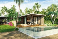 Prior to opening in BASK Gili Meno is offering investors the chance to acquire beachfront villas in one of the world's most unspoiled island havens. Chalet Design, Beach Villa, Next Door, Lombok, Resort Style, Investment Property, Luxury Villa, Pergola, Outdoor Structures