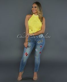 Chic Couture Online - Jagger Light Wash Patch Denim Jeans, (http://www.chiccoutureonline.com/jagger-light-wash-patch-denim-jeans/)